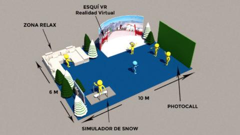 Realidad virtual con nieve